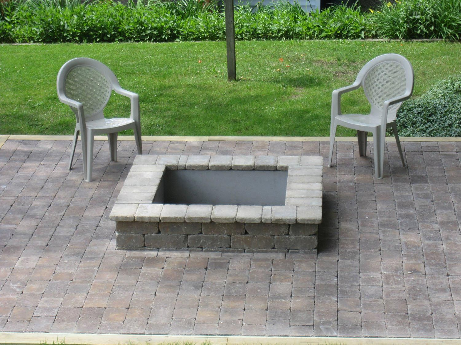 Fire Pit Square Insert  Fire Pit  Fire pit liner Metal