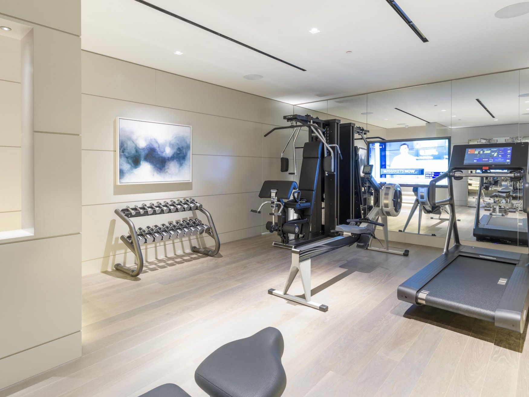 Lower basement gym in kensington mansion