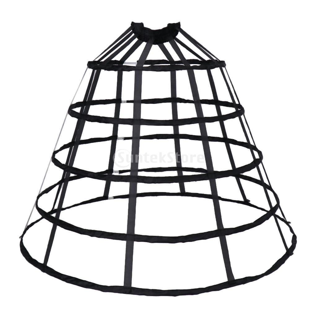4 Hoop Gothic Lolita Fishbone Petticoat//Underskirt Medieval Victorian Ball Gown
