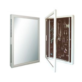 Coffre Armoire Cadre À Bijoux Mural Avec Miroir | Rangement | Pinterest