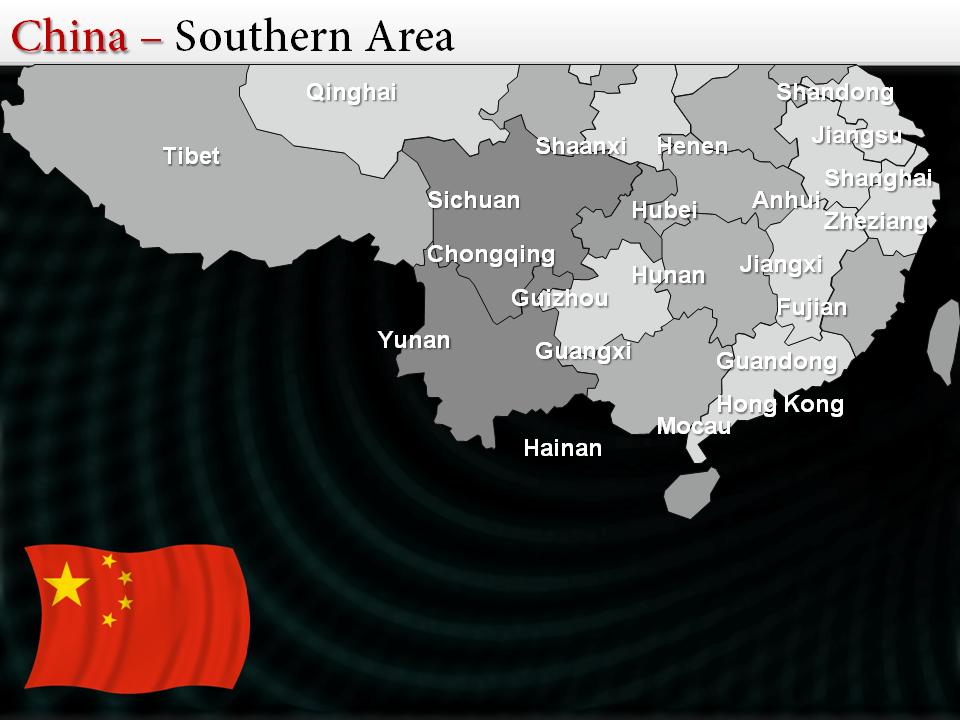 Make wonderful presentation slides over China showing