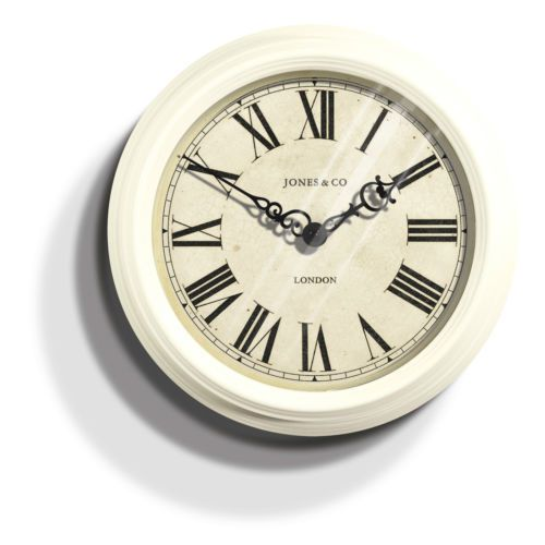 The Savoy Wall Clock In Cream By Jones Clocks Ebay