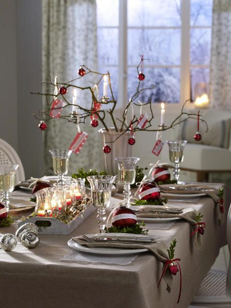 Ideas to decorate your Christmas dinner table
