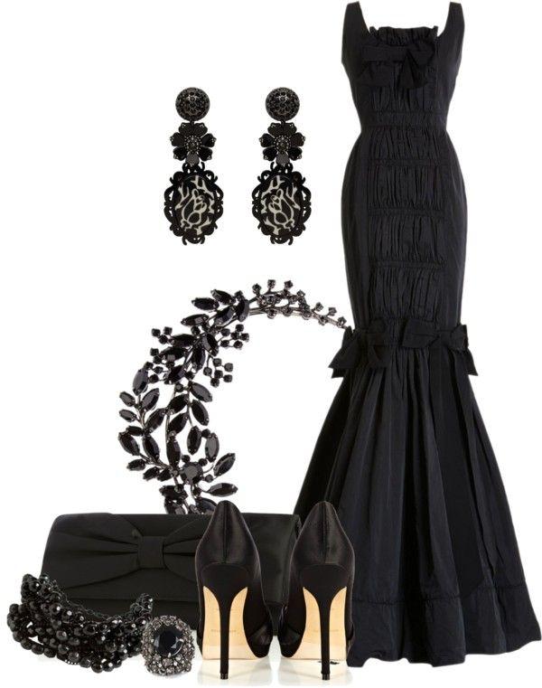 Classic Black Mermaid | Polyvore | Black mermaid, Black, Fashion
