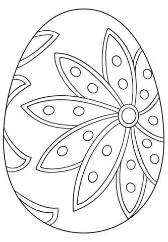 Fancy Easter Egg coloring page from Easter eggs category