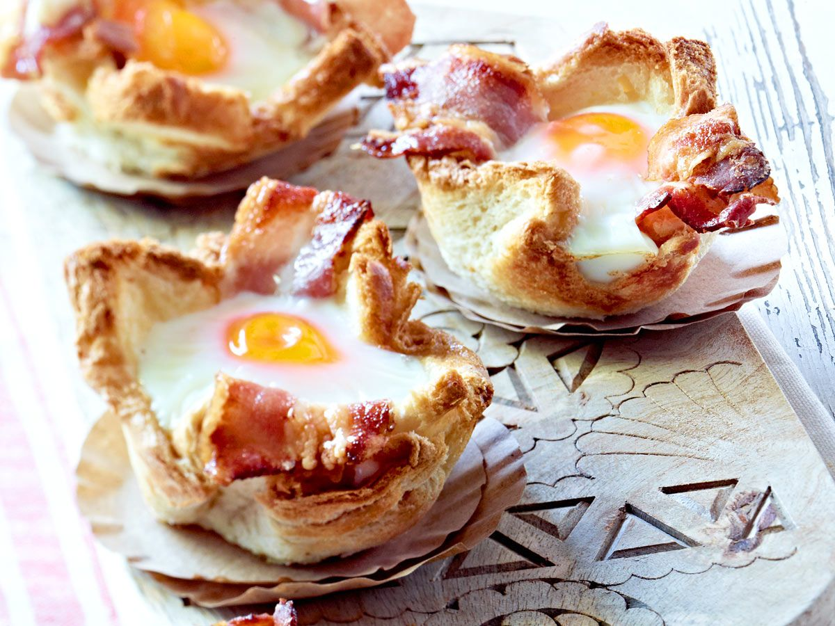 Photo of Toast muffins with egg and bacon