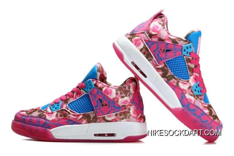 super popular 1bf37 ea78b Jordans 2015 Air Jordan 4 Pink Rose Shoes Womens Nike Limit Discount