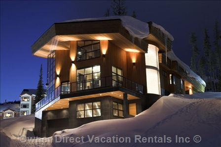 Big White, British Columbia - Embedded into the mountain's granite base, and following closely the mountain's natural contour, through its split-level plan the property was engineered to be an extension of the mountain itself. ID# 90232
