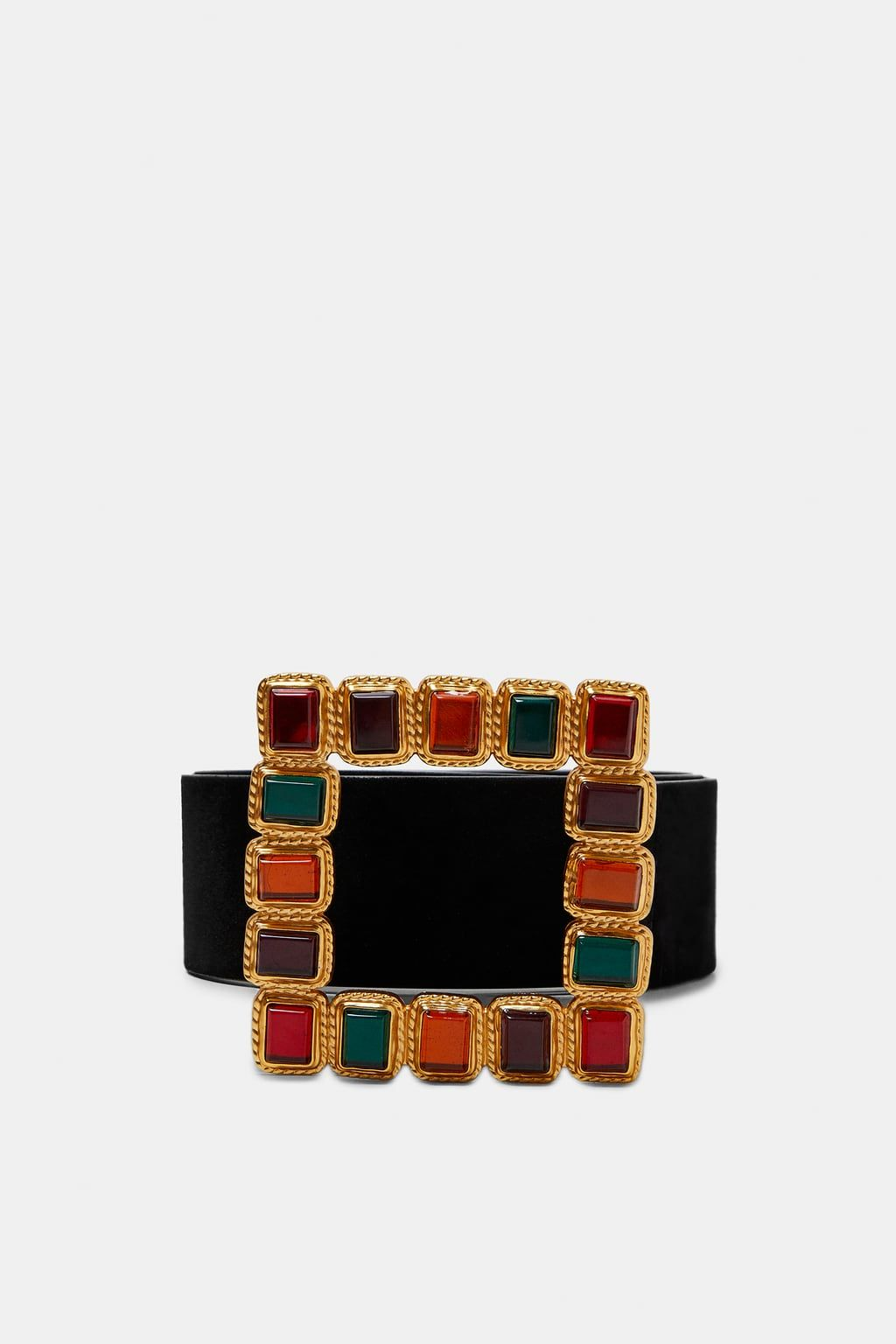 b97e551f065 Image 2 of BELT WITH BEJEWELED BUCKLE from Zara