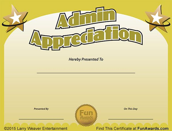 funny award ideas administrative assistant day free certificate