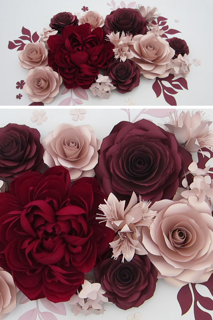 Crepe Paper Wall Flowers For Wedding Backdrop 3d Giant Paper