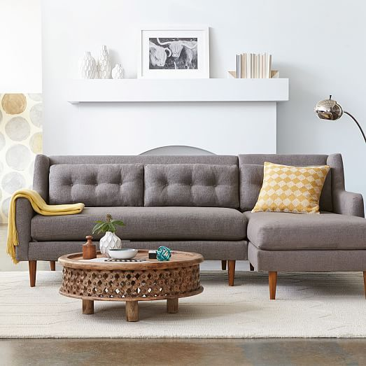 Crosby 2 Piece Chaise Sectional West Elm Can Do Left Or Right Side On For 123