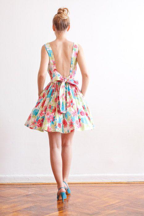eb4be6df3a7 Sampe Sale - Low Back Floral Print Cotton Dress - Ready To Ship ...