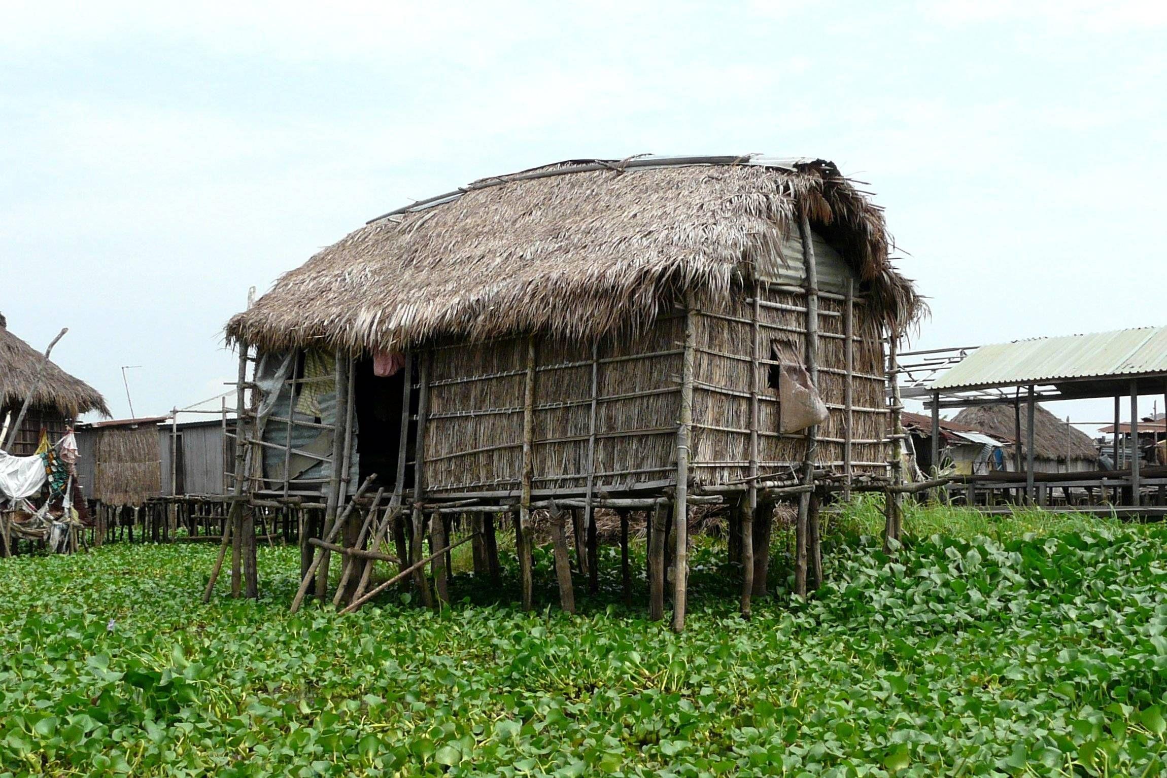 Hut In The Wilds Of Benin Africa