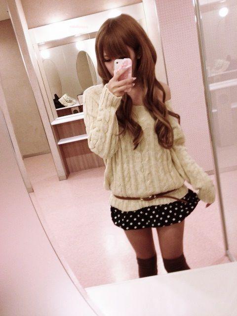 #gyaru #Japanese girl long curly hair
