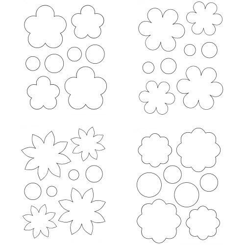 Pdf modeles fleurs papier id es bricolage fleurs en papier guirlande de fleurs fleurs feutrine - Modele de coeur a decouper ...