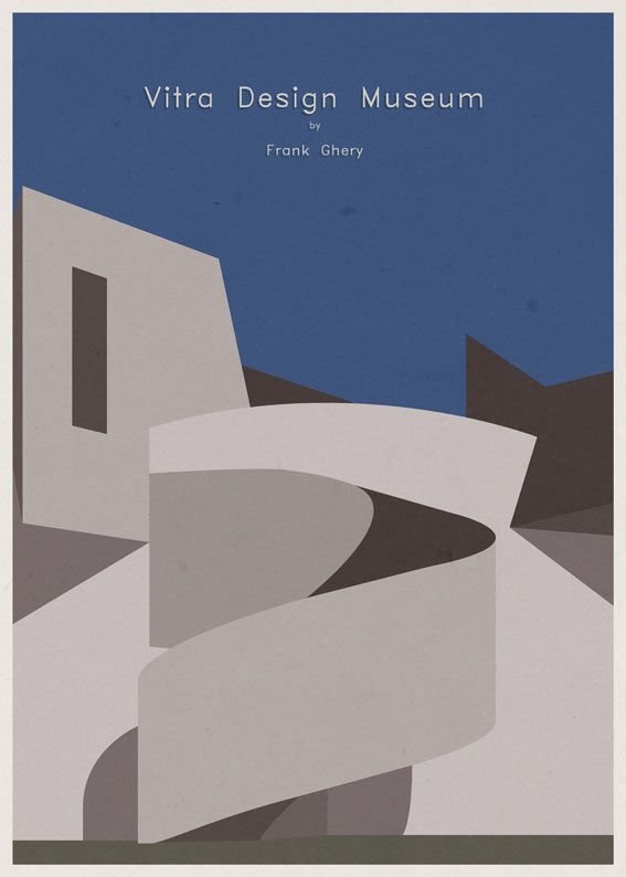 Modern Architecture Posters andre-chiote-arch-poster-3-vitra | architecture posters, poster