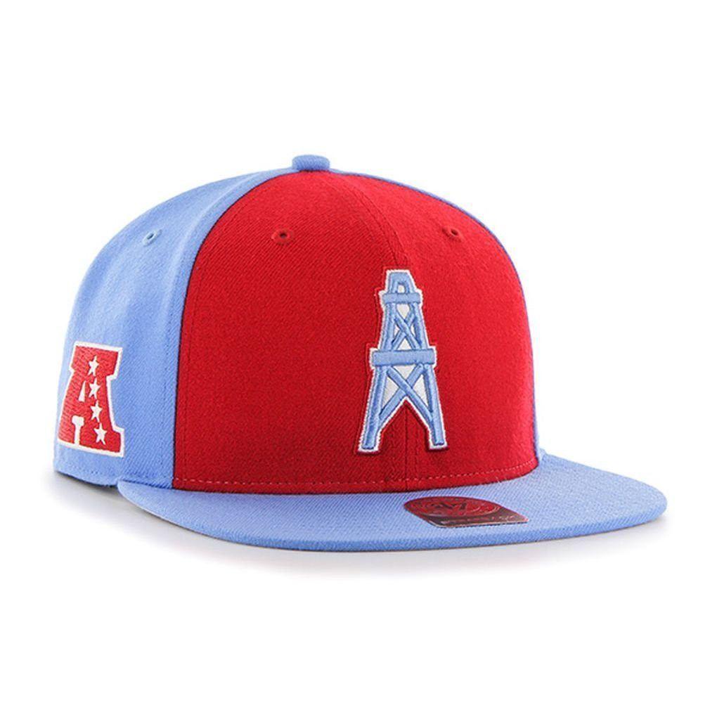 97981bd93 NFL Super Move 47 Brand Houston Oilers Captain Wool Strapback Hat ...