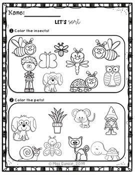 GROWING Bundle: Spring Math Worksheets for Kindergarten