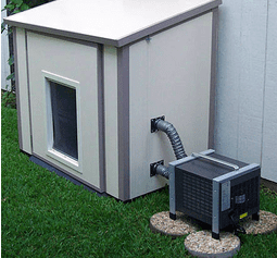 Temperature Controlled Outdoor Enclosures Portable Ac Heating For Pet Houses Cool Dog Houses Dog House Air Conditioner Dog House