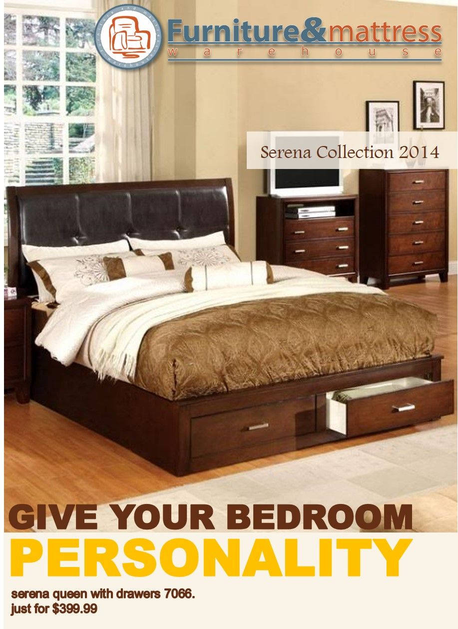 Give Your Bedroom Personality Serena Queen Bed With Drawers