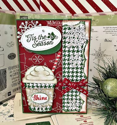 Monika O'Neill   Stampin'Up Coffee Cafe Bundle   Be Merry DSP