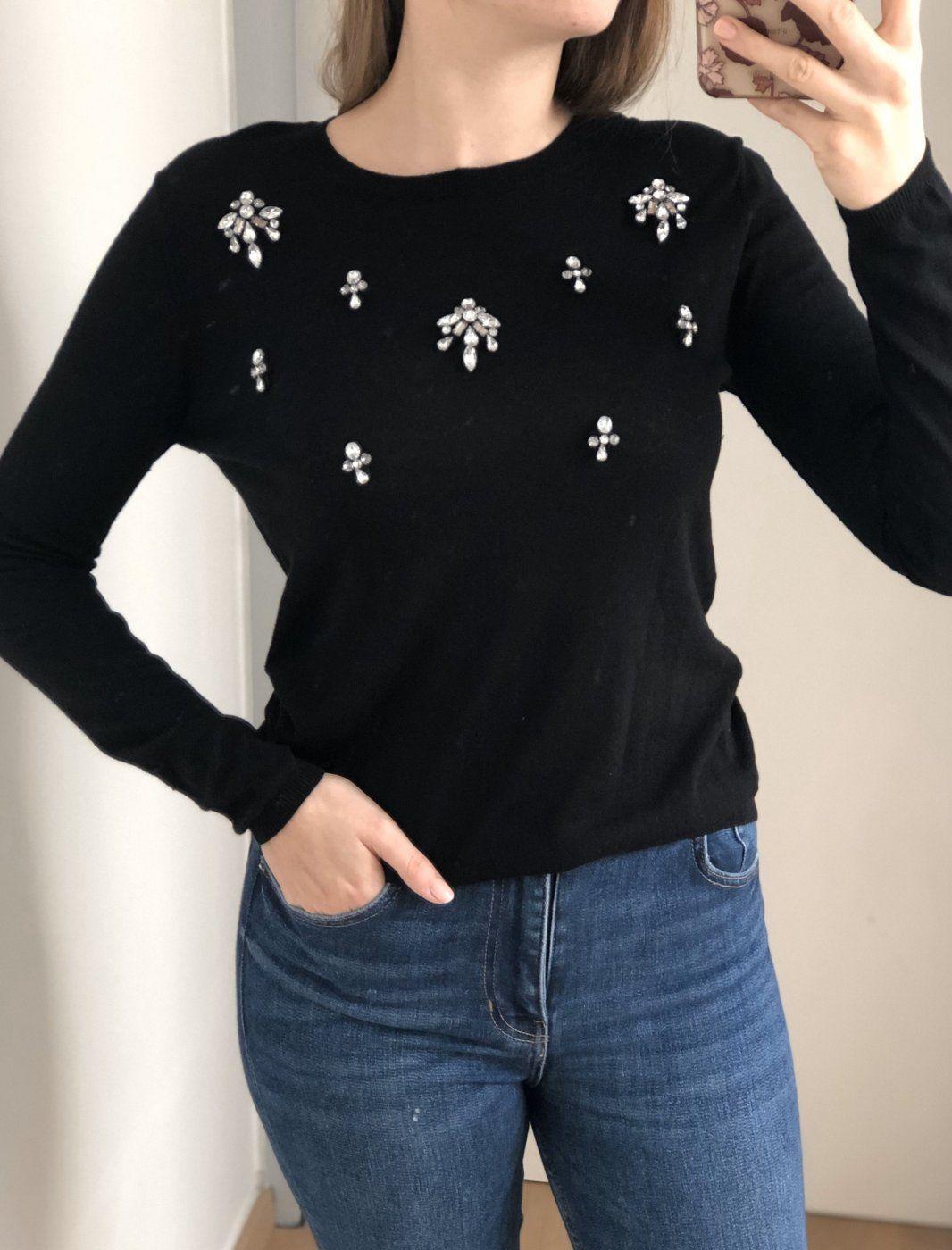 Pullover mit Schmucksteinen | Mädchenflohmarkt