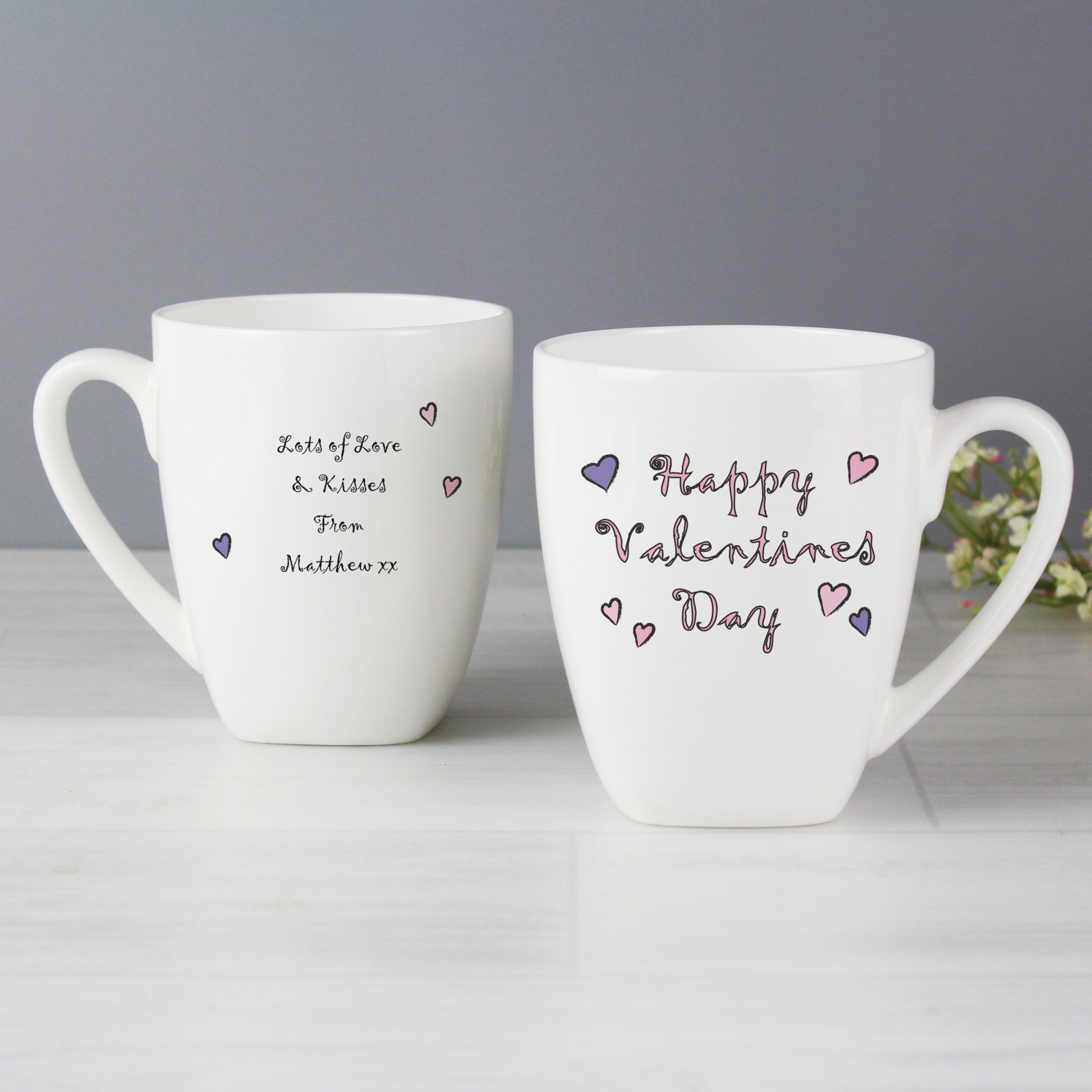 Happy valentine day latte mug at personalised gifts r us