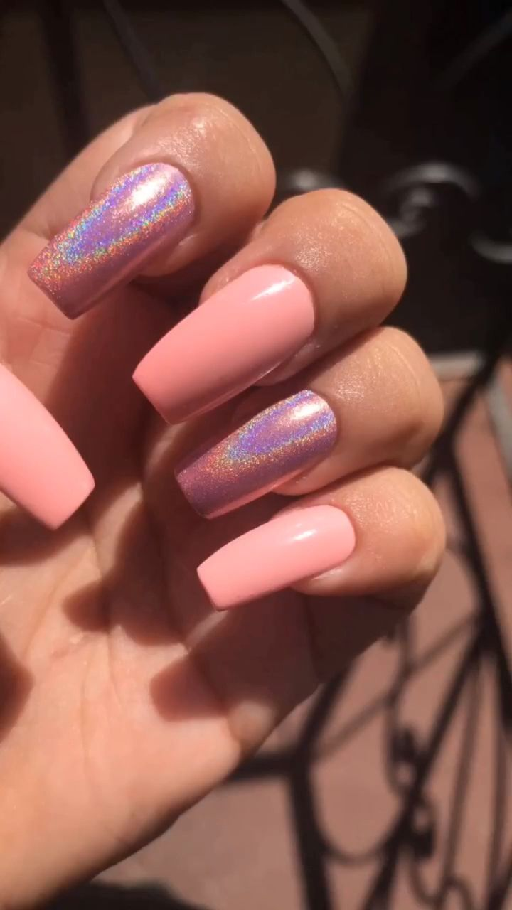 Videos Uñas Acrilicas Decoradas Pinknails Holographicnails Nails En 2019 Videos De Uñas
