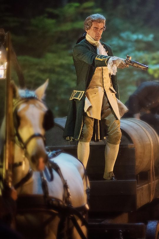 Le Comte St. Germain defends his wine shipment from marauders.