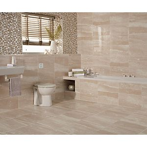 wickes bathroom wall tiles wickes newton beige gloss ceramic wall tile 248x498mm 21662