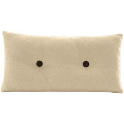 Coussin Pilo - beige latté & boutons bruns - personnalisable - 22€
