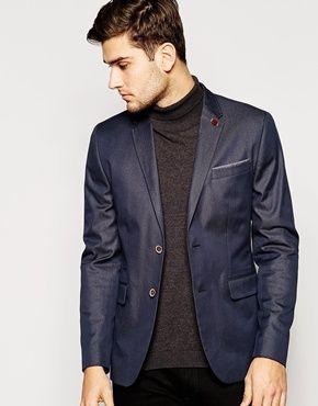 Chaqueta de traje de algodón y corte slim de Ted Baker  b3cf60a19c6