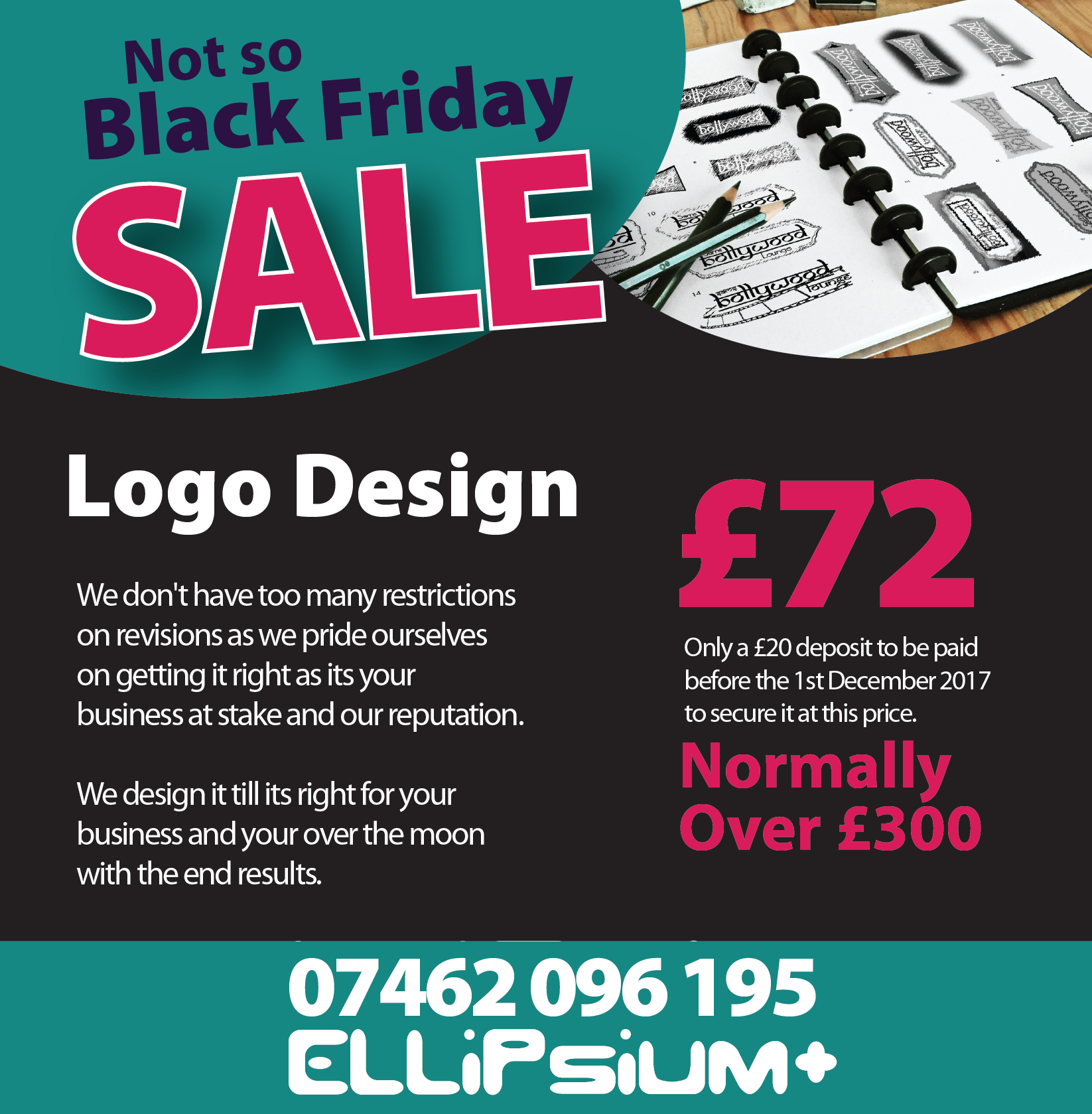 Black Friday Bandwagon 1 Sale logo, Logo design, Flyer