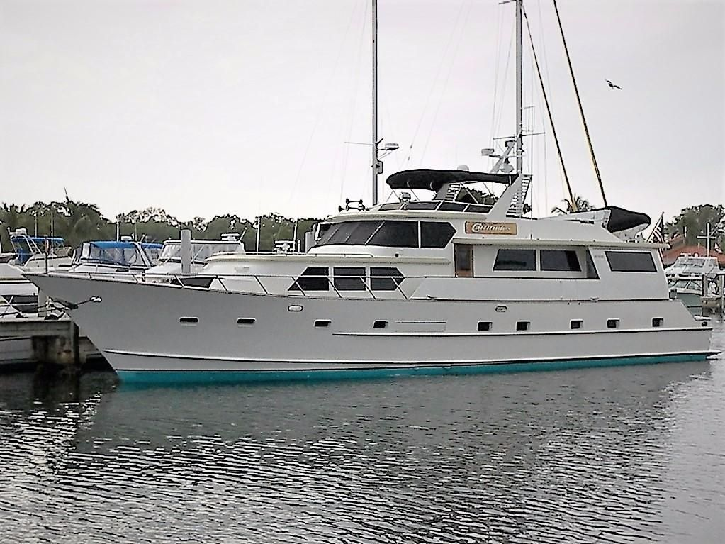 1984 Broward Motor Yacht Power Boat For Sale Located In Florida