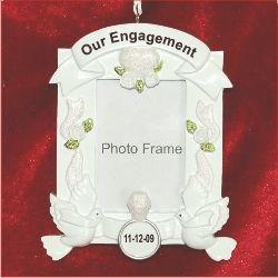 engagement frame christmas ornament - Engagement Photo Frames