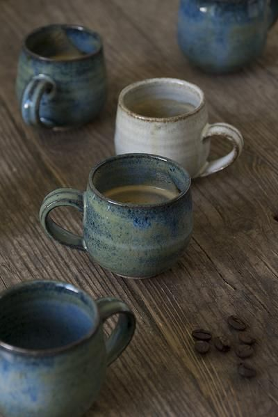 Blue Ceramic Espresso Cups
