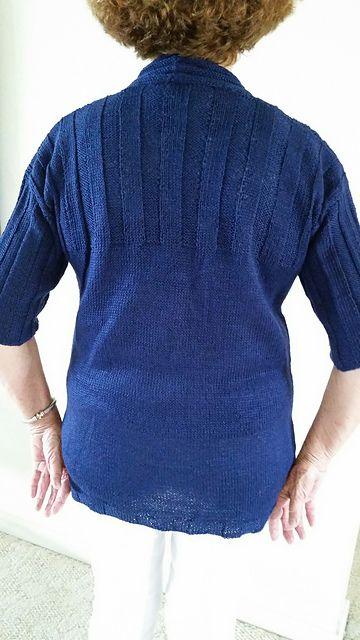 Ravelry: knit4ufla's Cardigan in Navy Blue