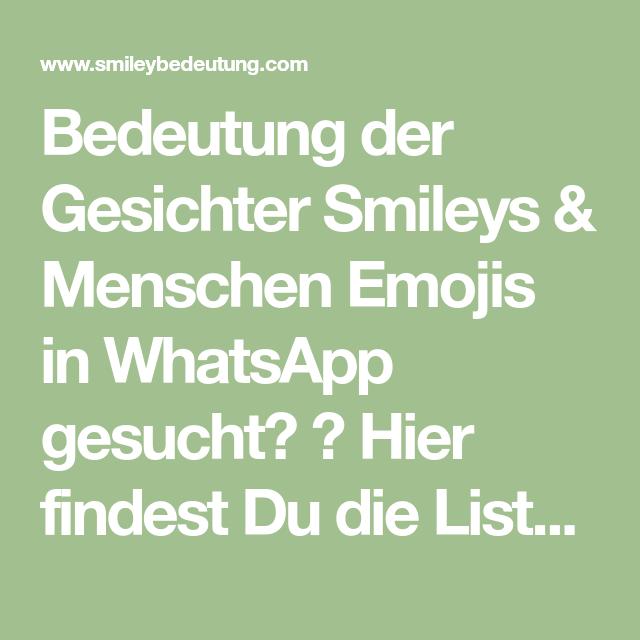 Bedeutungen smileys