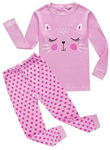 Little and Big Girls Pajamas 100/% Cotton Pjs Set Kids Clothes Sleepwear Toddlers