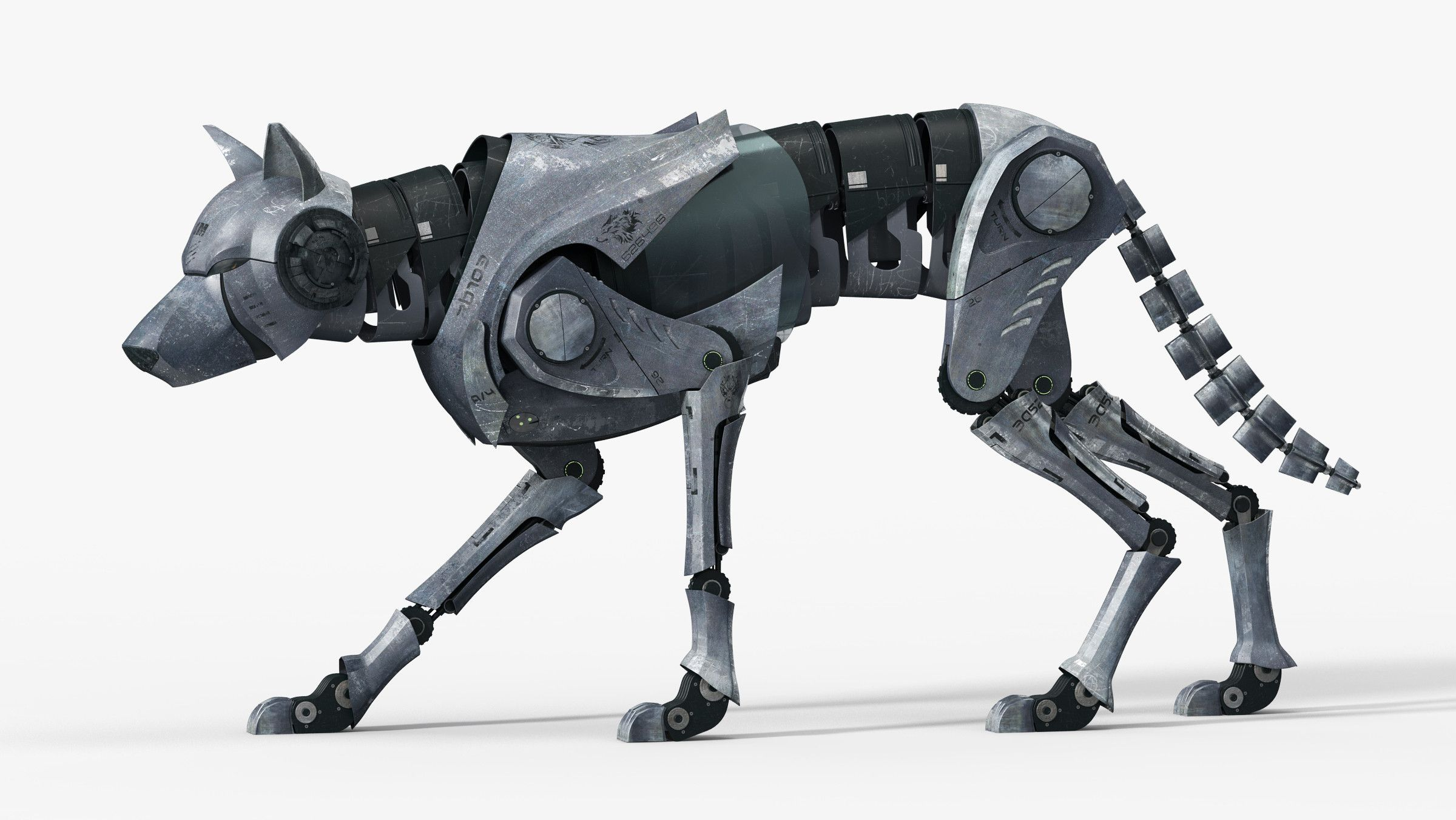 maya wolf ged Steampunk animals, Husky drawing