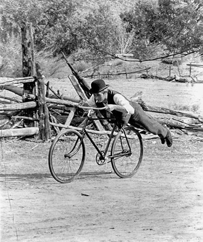 Practicing For His Legendary Bicycle Scene In Butch Cassidy And