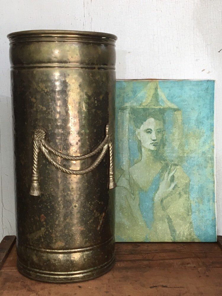 Brass Umbrella Stand Holder Toilet Paper Bucket Hollywood