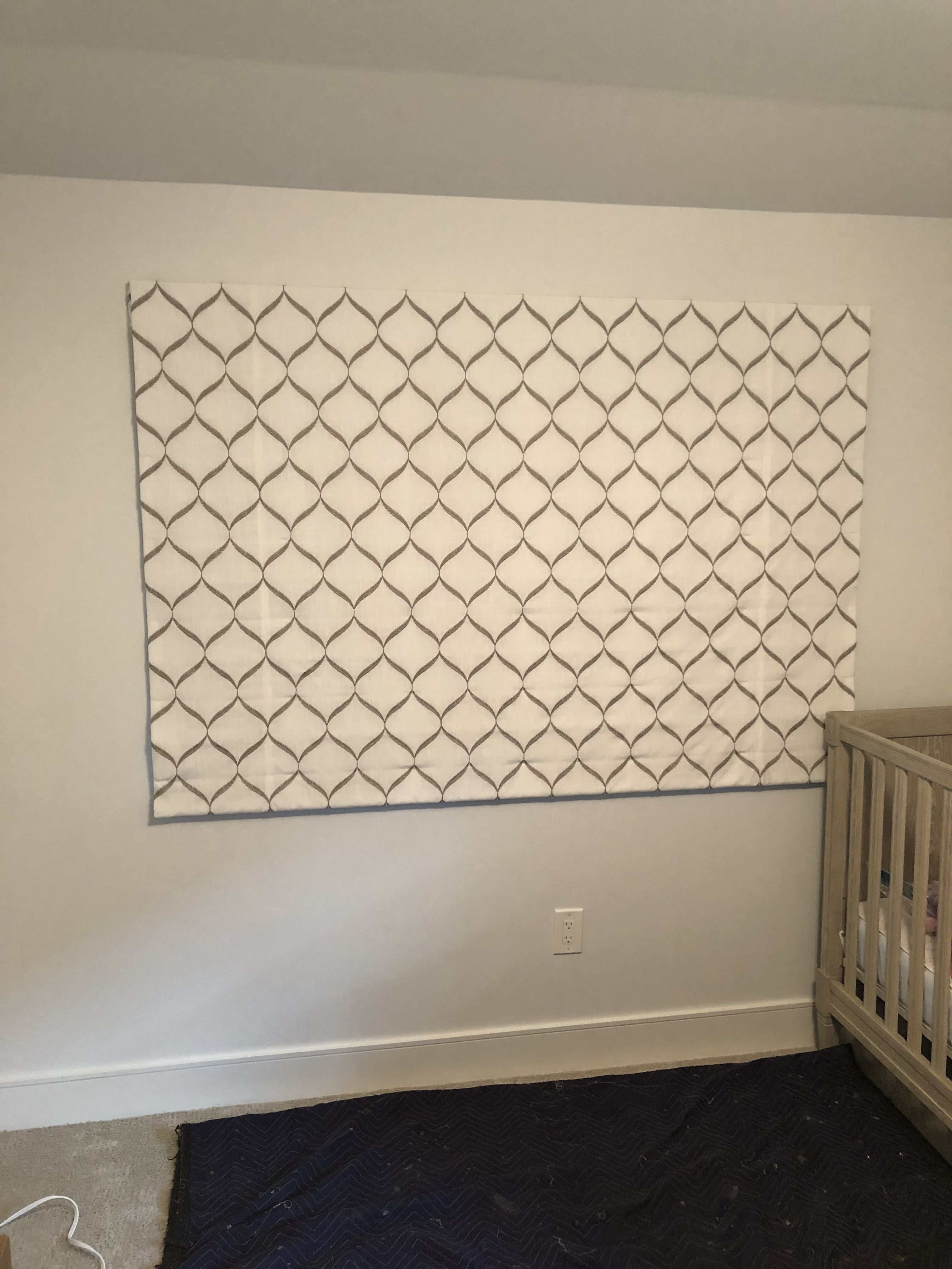 Outside Mount Blackout Roman Shades For The Nursery By Umami Interiors Custom Window Coverings Window Coverings Custom Window Treatments