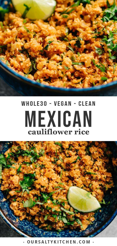 Mexikanischer Blumenkohlreis   - Whole 30 recipes - #Blumenkohlreis #Mexikanischer #recipes #tacotuesdayrecipes
