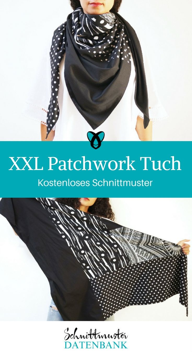 XXL Patchwork Tuch Noch keine Bewertung. | Dreieckstuch nähen ...
