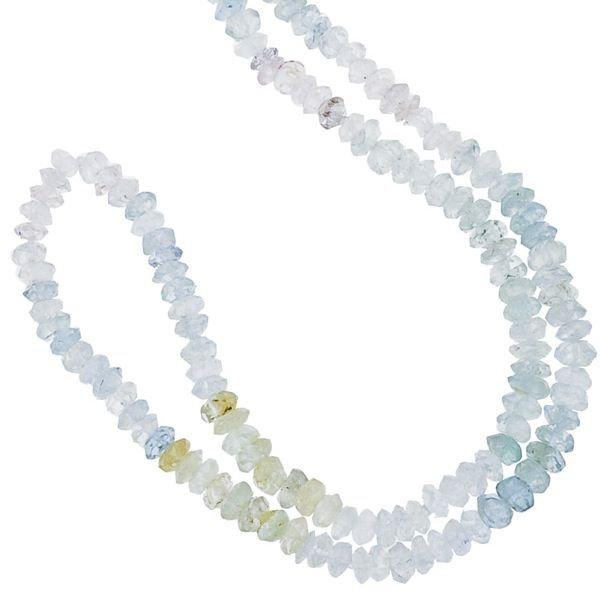 85b3b479f March – Aquamarine- A 16 inch semi-precious strand featuring March's  birthstone - Aquamarine - finished with a WYS sterling silver signature tag.