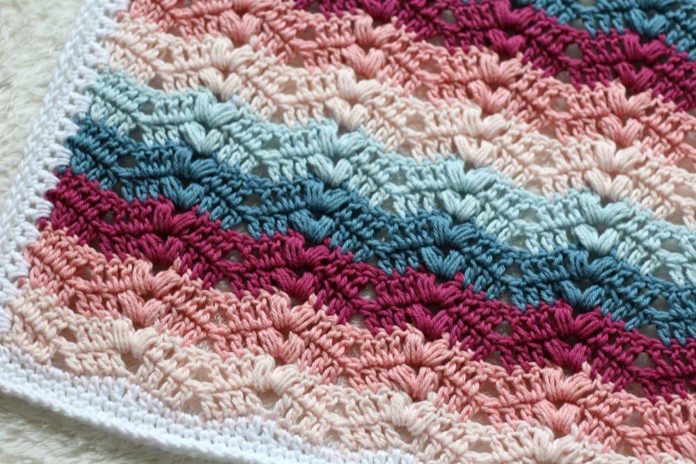 Moderno Patrón Afghan Crochet Ondulación Friso - Manta de Tejer ...