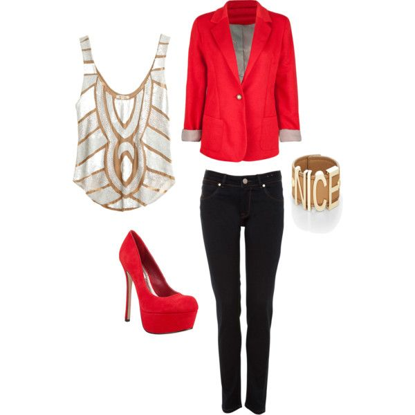 Red Radiance, created by ashley-booker on Polyvore