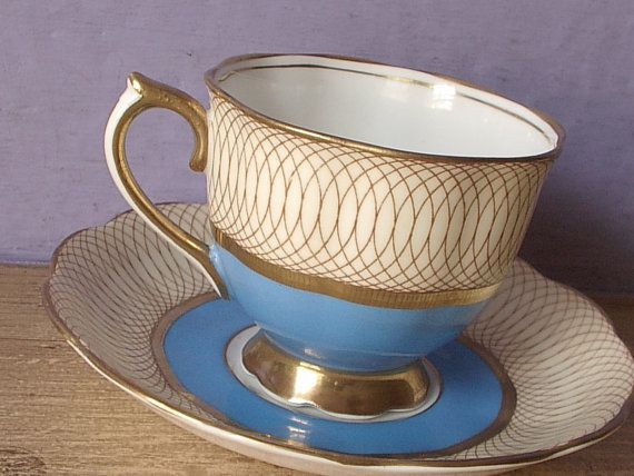 Vintage 1940's Royal Albert tea cup set atomic by ShoponSherman, $49.00